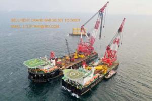 Wholesale floating: 1500 Ton Crane Barge 1500t Floating Crane 1500 Ton Sale Buy Charter Rent Crane Barge 1500t 1600t