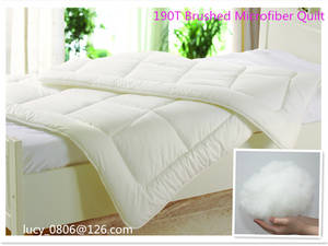 Wholesale microfiber brush: 190T Brushed Microfiber Quilt