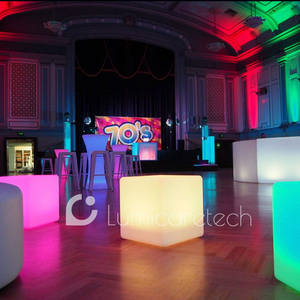 Wholesale Bar Furniture: Light Up Cube Seat Chair Stool Illuminated LED Cube