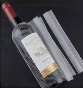 Wholesale protection net: White Extruded PE Wine Bottle Sleeves, Protective Net for Botlle