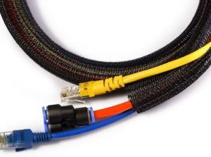 Wholesale cable sleeve: Self-closing Black PET Braided Sleeve,Expandable Braided Cable Sleeving,Self Wrapping Braided Sleeve
