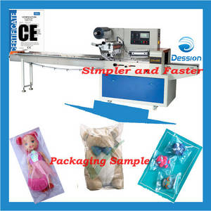Wholesale electric toys: Packaging Machine for Doll/Electrical Toys Packaging Wrapping Machinery