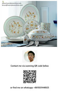 Wholesale porcelain dinner plates: Bone China Dinnerware Wholesale Contact Now