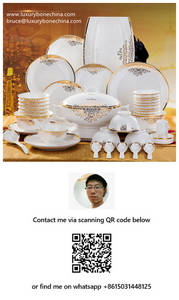 Wholesale porcelain dinner plates: Bone China Dinnerware Sets Factory Supply Contact Now