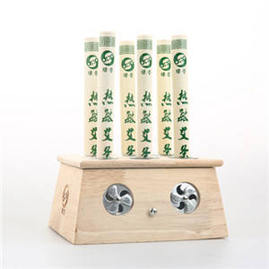 Wholesale moxibustion: Bamboo-made Moxibustion Box, 6-hole
