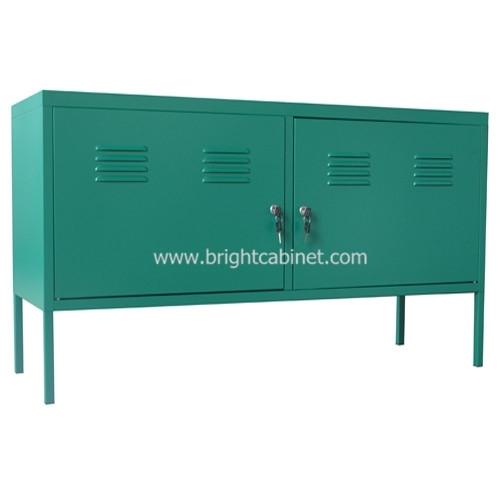Steel Home Storage Cabinet TV Stand 2 Sadjustable Shelf Short Long Cupboard Simple Industrial Style