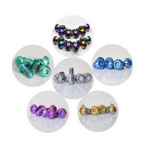 Wholesale titanium screws: Factory Supply High Quality and Low Price ISO 7380 Ti Titanium Bolts M5x10mm Screws Disc Rotor Brake