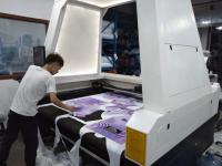 Camera Scan Textile Laser Cutter/Sportswear Cycling Wear Laser Cutter with CCD Camera On Top