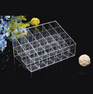 Wholesale Plastic Crafts: Elegant Design 24 Pockets Acrylic Cosmetic Dispaly Stand for Women