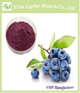 Wholesale raw herbals: Lyphar 10%, 15%, 25% Natural Blueberry Extract