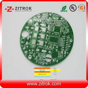 Wholesale Single-Sided PCB: Single-sided FR4 and Aluminum Pressed Countersink Hole PCB Board