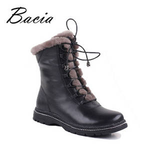 Wholesale Boots: Winter Mid-Calf Warm Wool Fur Boots Warm Long Plush Shoes