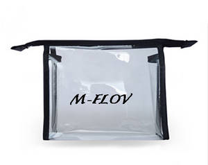 Wholesale pvc cosmetic bag: Transparent PVC Cosmetic Bag for Promotion (MF-CB 002)