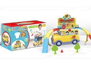 Wholesale tracking light: Funny Bus Track Toy Set with Light and Music for Kids