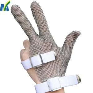 Wholesale Workplace Safety Supplies: Stainless Steel Garments Cutting Hand Safe Gloves with Three Fingers Targeted Protection