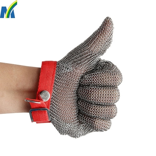 High Quality Protection Safety Stainless Steel Chain Mail Gloves for Meat Processing image
