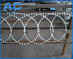 Wholesale razor: Hot Dipped Galvanized Razor Barbed Wire