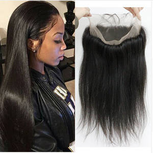 Wholesale natural color: 360 Natural Color Full Lace  Frontal Hair Closure Silky Base