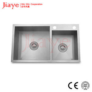 Wholesale Kitchen Sinks: Square Kitchen Sink with Double Bowl/Quality Handmade Sink Under-mount JY-7845L