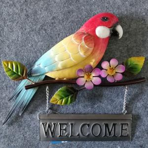 Wholesale ironing board: Iron Crafts Hanging Decoration Parrot Welcome Board Shop Wall Plaque Decoration