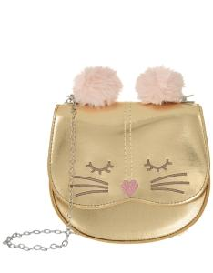 Wholesale coin: Children Girls Cute Tassel Cat Shoulder Messenger Bag Mini Coin Purses PU Leather Handbags Wallet