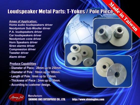 Sell Cold Forging Speaker metal parts made in Taiwan