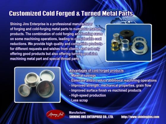 Sell Custom made cold forged fasteners and rivets made in Taiwan