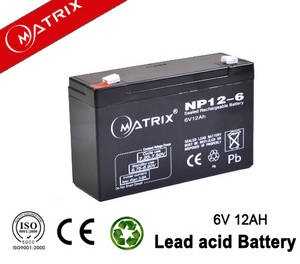 Wholesale vrla battery: Alarm system Vrla Maintenance Free Battery 6V 12ah
