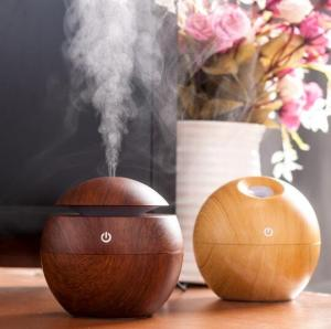 Wholesale mini aroma diffuser: Essential Oil Diffuser 130ML LED Ultrasonic Cool Mist Aroma Air Humidifier