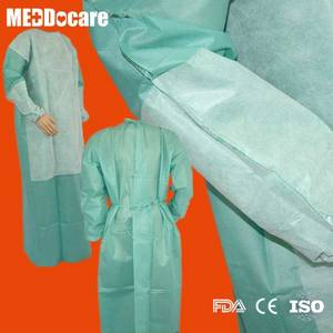Wholesale cpe protective gown: PPE SMS PP Reinforced Waterproof Disposable Hospital Gowns for Hospitals Suppliers