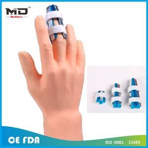 Wholesale medical consumables: Aluminum Sport Finger Splint Stabilizer Flexible Finger Supporter Mallet Medical Consumable Finger S