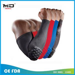 Wholesale correct posture: Arm Sleeve Honeycomb Armband Elbow Support Basketball Arm Brace Elbow Support