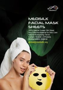 Wholesale ordinary purpose: Medisilk: 100% Natural Golden Silk Sheet