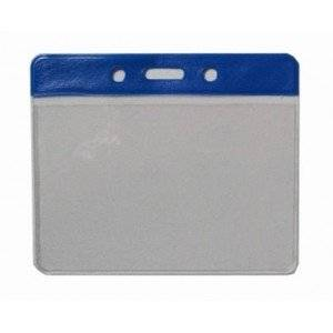 Wholesale chain card wallet: Horizontal Badge Holder with Slot & Chain Holes