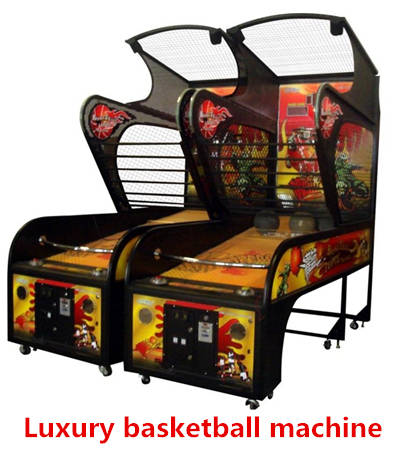 Sell Coin Operated Amusement Park Arcade Basketball Game Lottery Machine