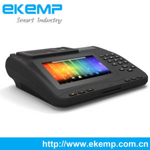 Wholesale taxi data terminal: EKEMP P7 Android POS Terminal with Fingerprint Scanner and RFID System