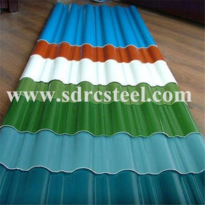 Wholesale corrugated iron sheet: Prepainted Corrugated Aluminum Roofing Sheet