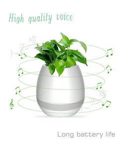 Wholesale smart pot: Dreamer Smart Festival Gift Flower Pot,Play Piano On A Real Plant, LED Colorful Night Light Touch