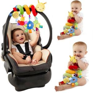 Wholesale toy car: New Activity Spiral Stroller Car Seat Travel Lathe Hanging Toys Baby Rattles Toy
