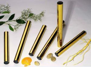 Wholesale decoration stainless steel: Golden Stainless Steel Decoration Pipe
