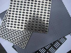 Wholesale wire mesh weaving machine: Perforated Stainless Steel Plate
