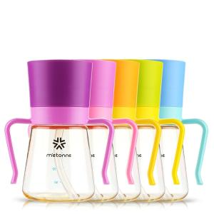 Wholesale silicone collapsible water bottle: METONNE M3 Baby Straw Cup 200ml & 300ml