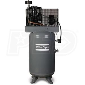 Wholesale Air-Compressors: Atlas Copco AR10 10-HP 120-Gallon Two-Stage Packaged Compressor (208-230V 3-Phase)