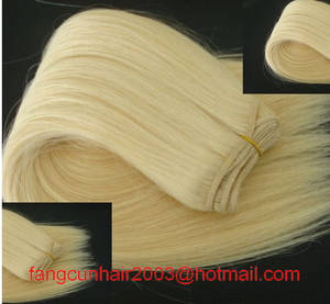 Wholesale human hair weft: Colored #60 Remy Indian Human Hair Weft