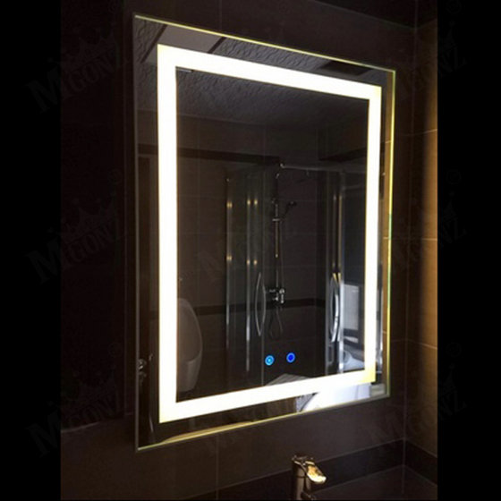 Mgonz Led Anti Fog Bathroom Mirror Shower Light Mirrors Customized Double Touch Switch 500