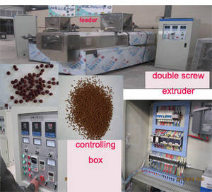 Wholesale dog food production line: Floating Fish Food Making Processing Machines Extruder