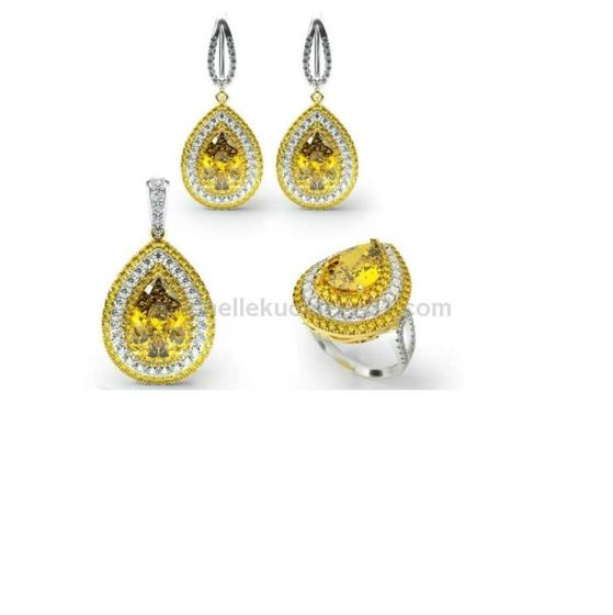 Hot Sale Sparkle Golden Jewelry Set