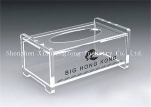 Wholesale napkin holder: High Quality Clear Acrylic Tissue Holder Lucite Napkin Box