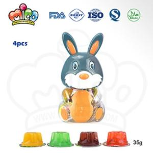 Wholesale food storage jar: Mixed Fruit Jelly in Animal Rabbit Jar