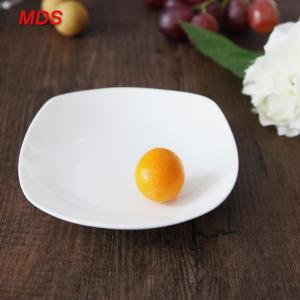 Wholesale white pizza box: Western Deep White Wholesale Square Bone China Dinner Plates